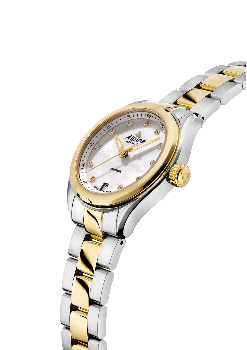 Comtesse White Bracelet BiColor | Timeless Elegance | Alpina Watches