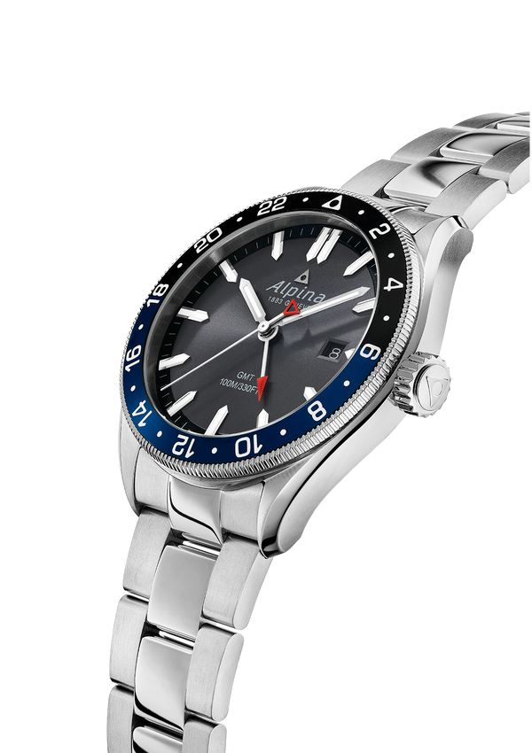 Alpiner Quartz GMT Dark Grey Bracelet | Bracelet Strap |Alpina Watches