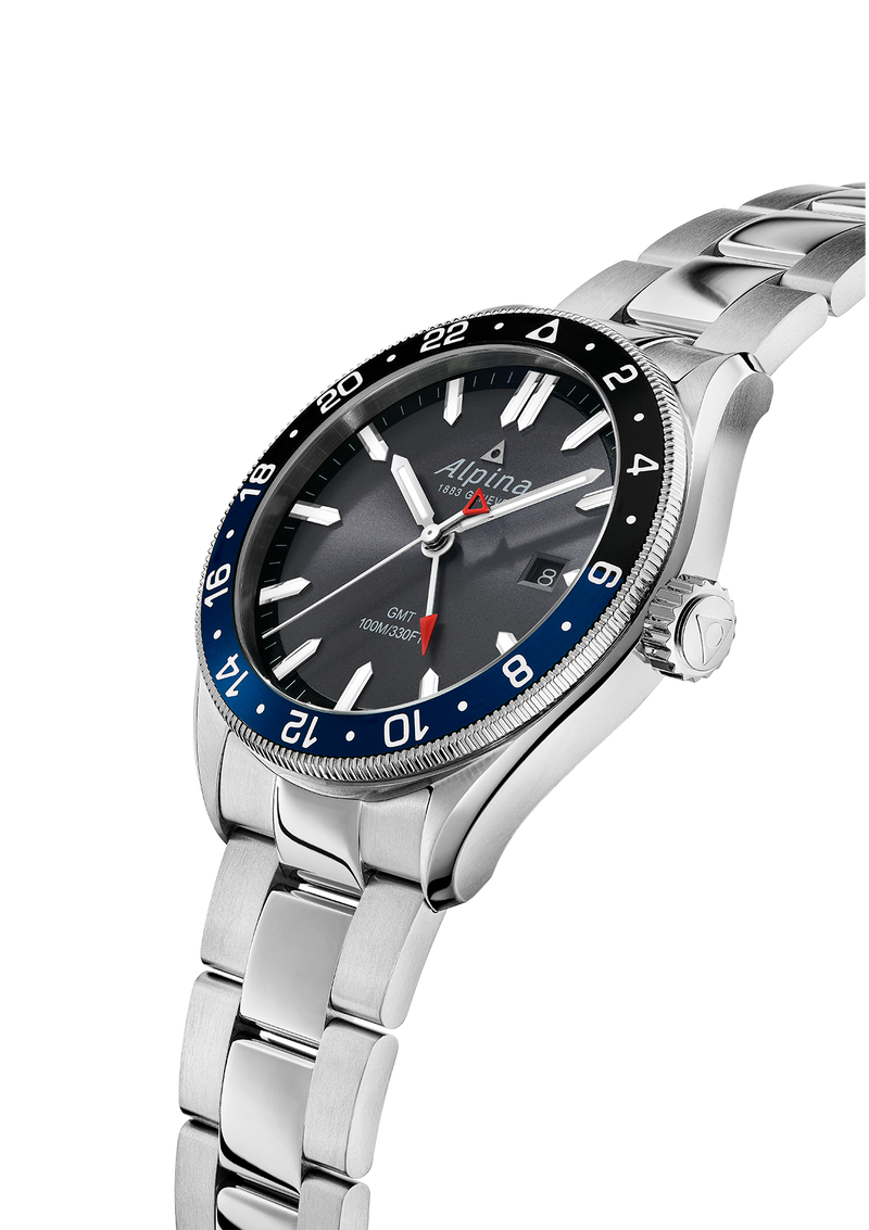 ALPINER QUARTZ GMT <br> DARK GREY / BRACELET