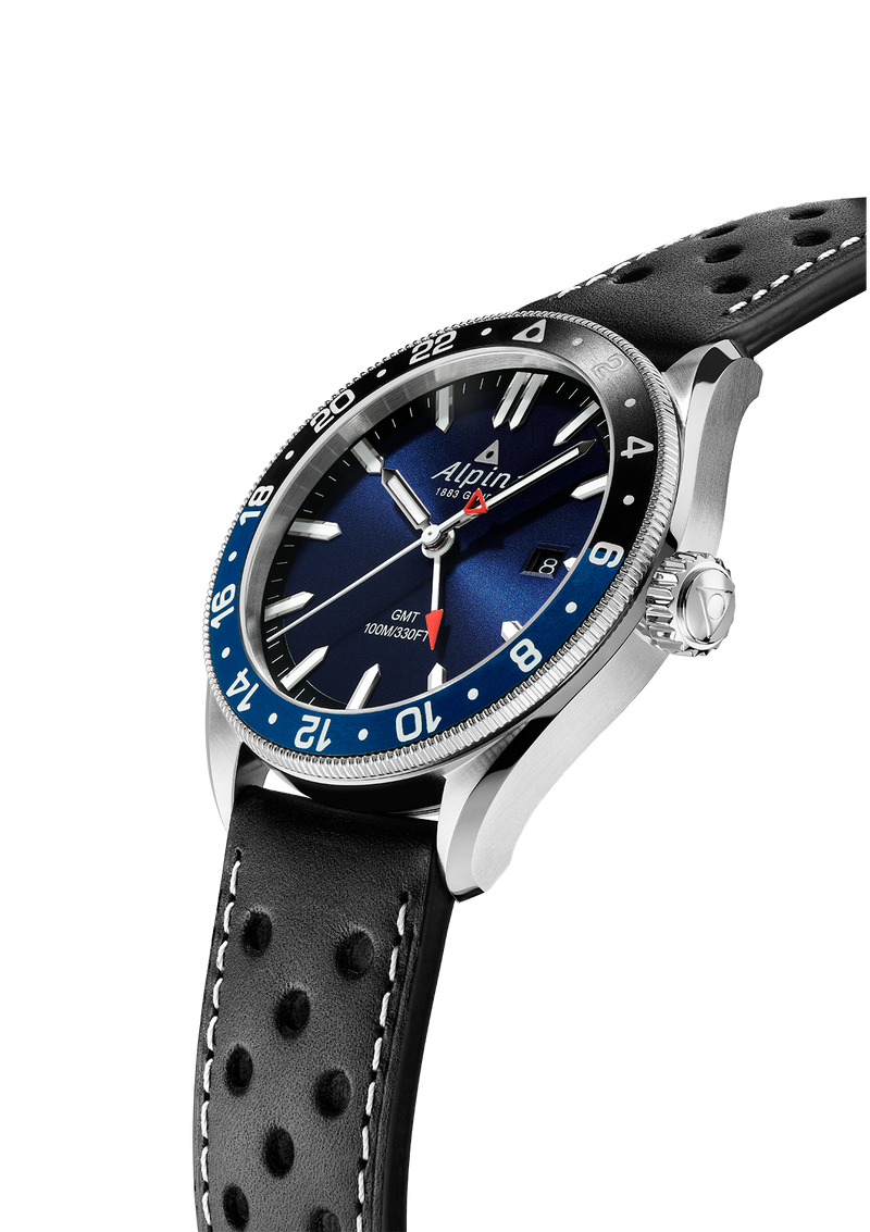 Quartz Watches For Men | Alpiner Quartz GMT Navy Blue | Gents' Watch | Alpina Watches