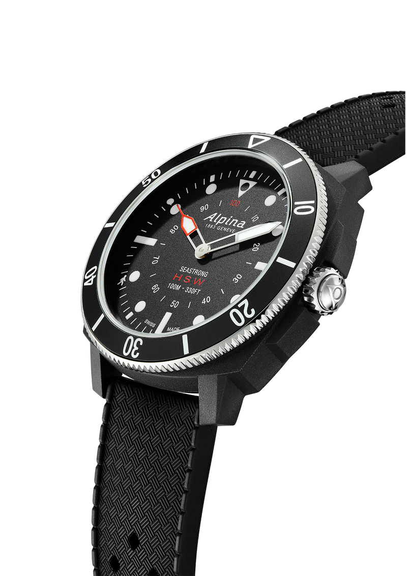 Black Dial Watches | Seastrong Horological Smartwatch Black | Alpina Watches