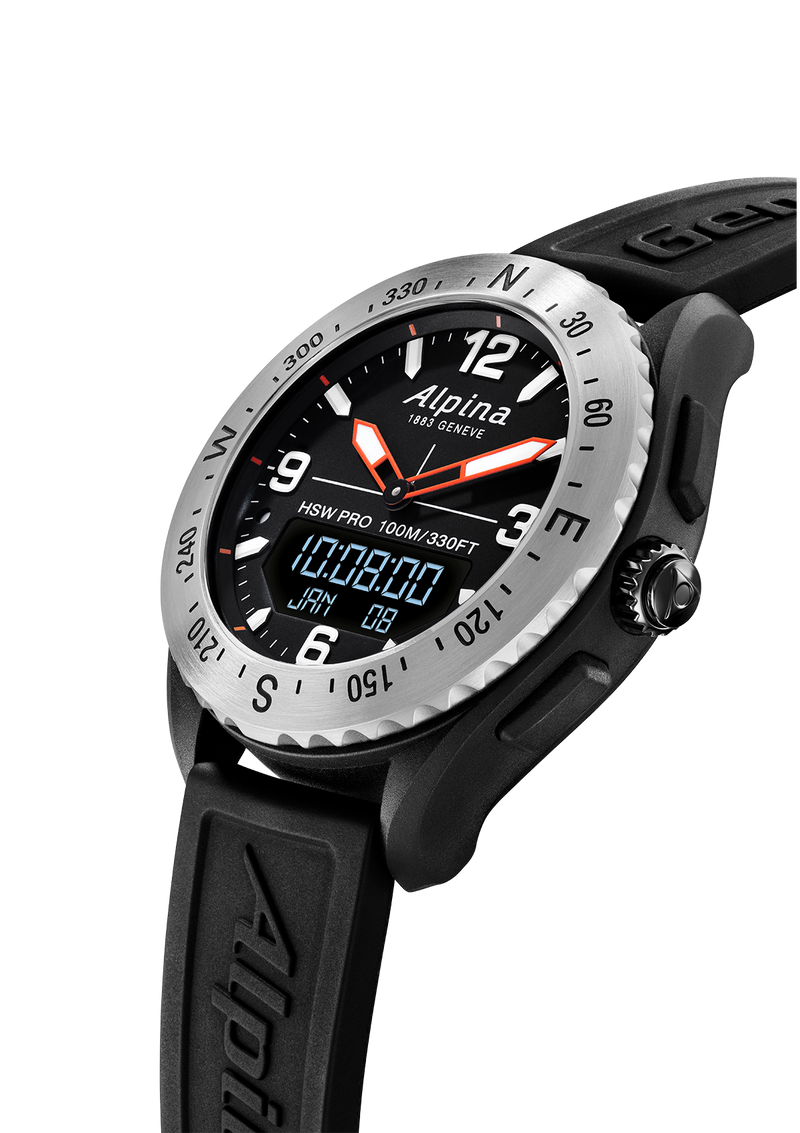 Alpinerx Black/Black | Message Notifications | Alpina Watches