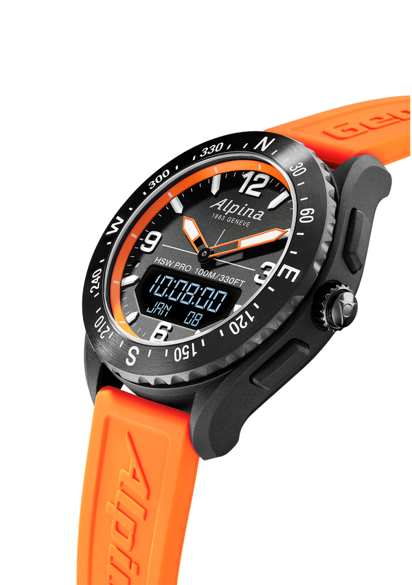 Alpinerx Black and Orange | Barometer | Alpina Watches