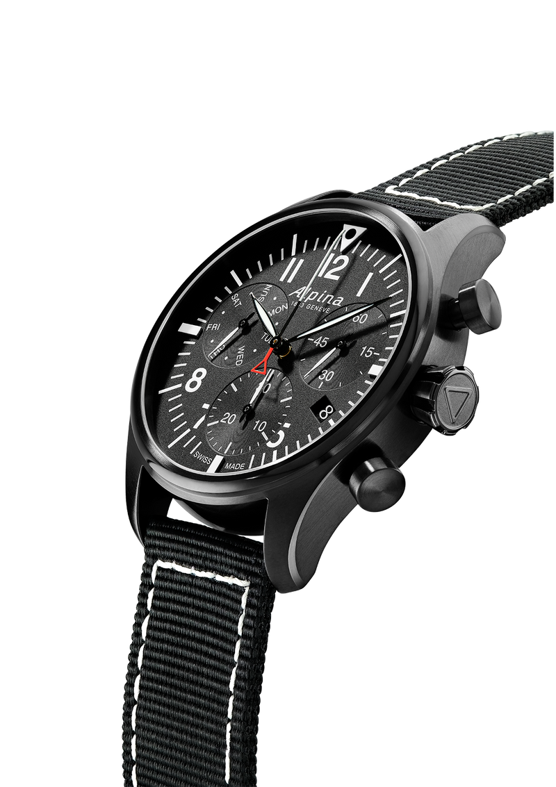 Chronograph Quartz Black | Startimer Pilot | Alpina Watches