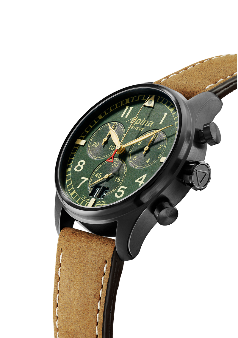 Big Date Chronograph Military Green | Startimer Pilot | Alpina Watches