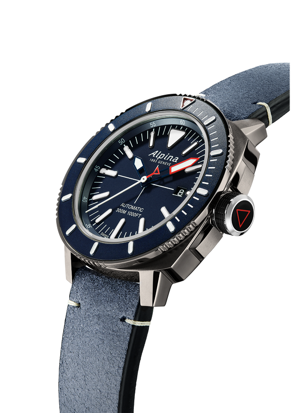 Seastrong Diver 300 Navy Blue | Titanium PVD Coated | Alpina Watches