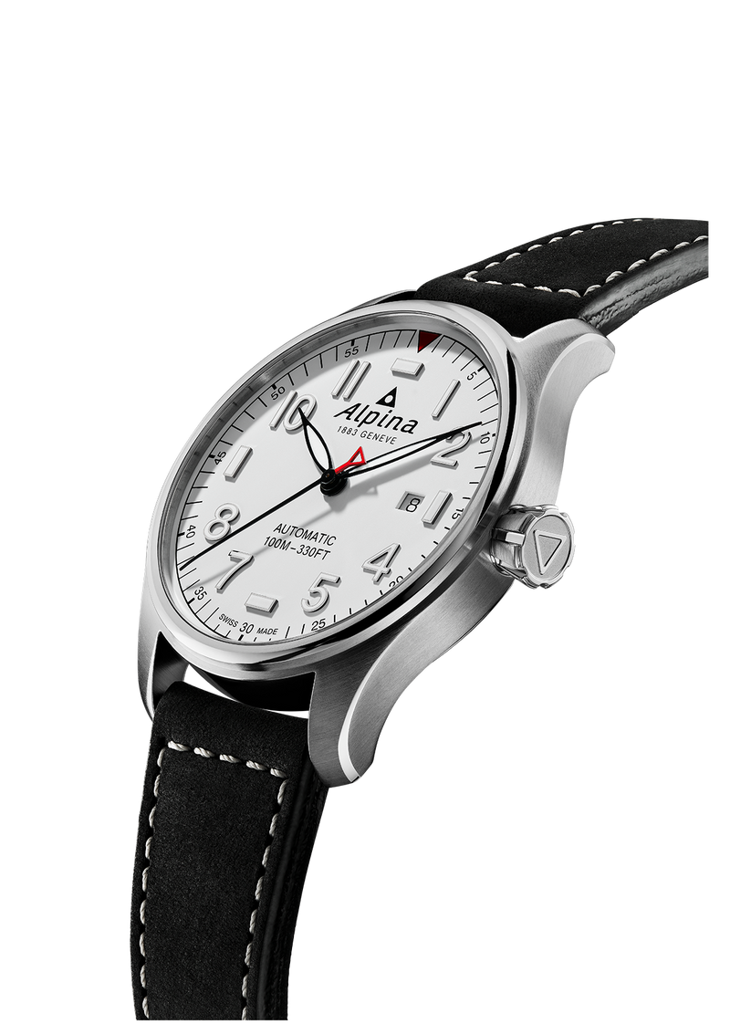 Automatic Matte White | Startimer Pilot | AL-525 Caliber | Alpina Watches