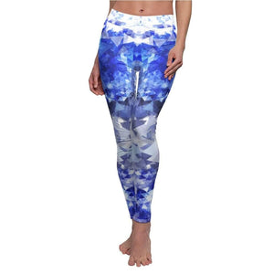 Crystal Blue Yoga Pants