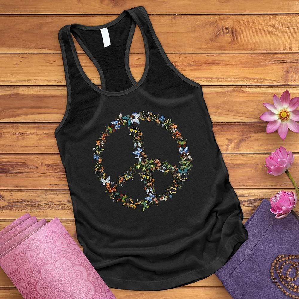 Butterfly Peace Sign Tank Top