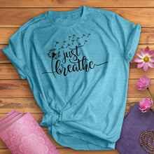 Load image into Gallery viewer, Just Breathe Dandelion Tee