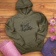 Load image into Gallery viewer, Just Breathe Dandelion Hoodie