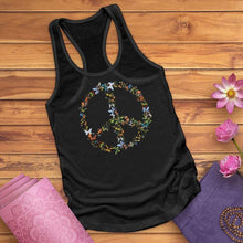 Load image into Gallery viewer, Butterfly Peace Sign Tank Top