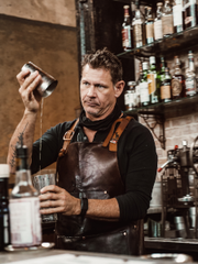 A bartender at Saint Augustine's Ice Plant
