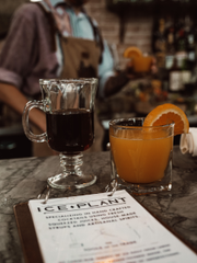 A cup of Sequential coffee and a cocktail at Ice Plant in St. Augustine