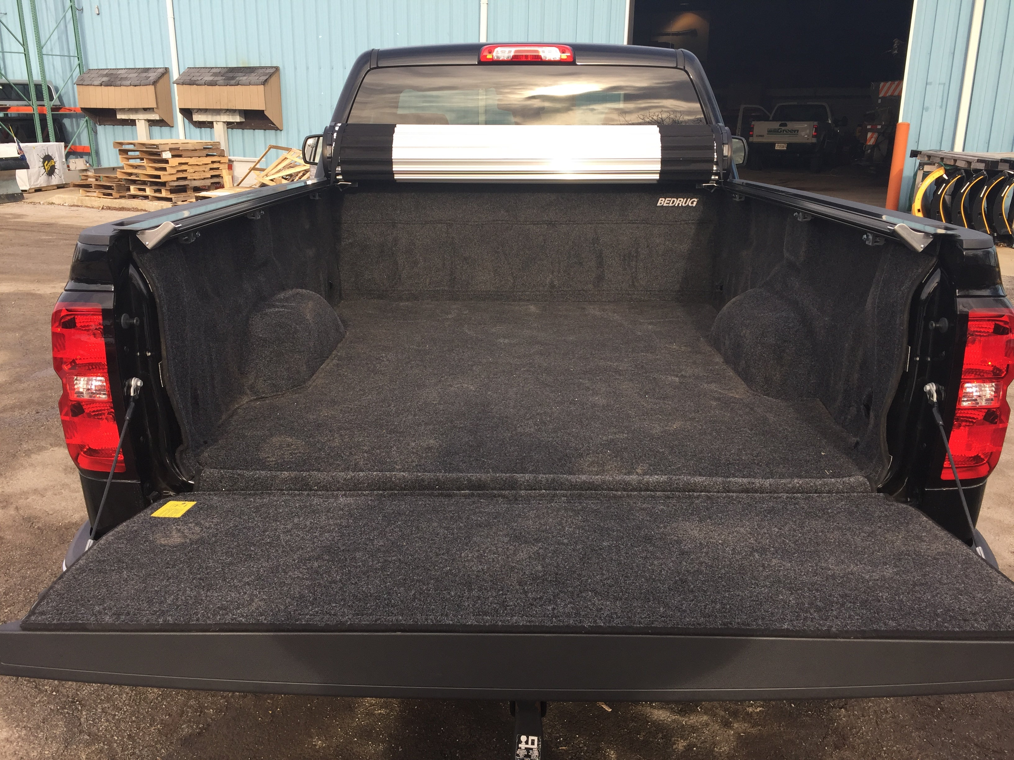 pickup truck bed liners 2015 chevy with Revolver X2 cover and bedrug liner