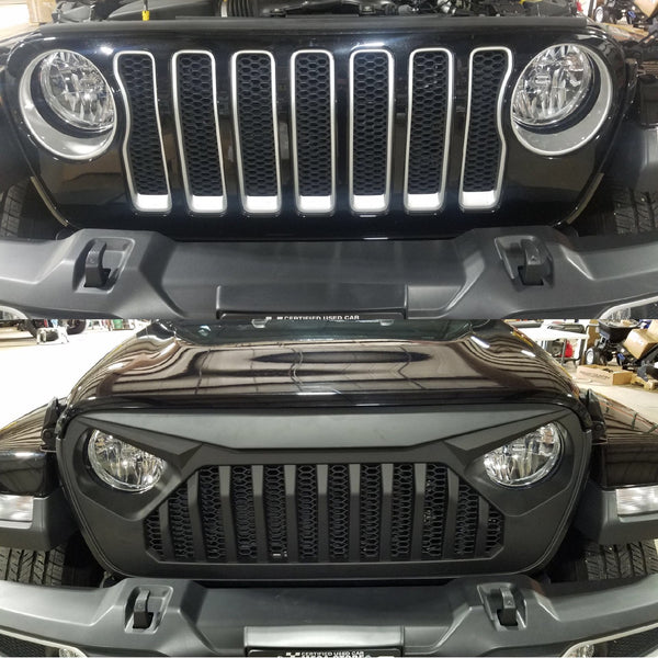 Jeep Angry Eye Grille Insert Before & After