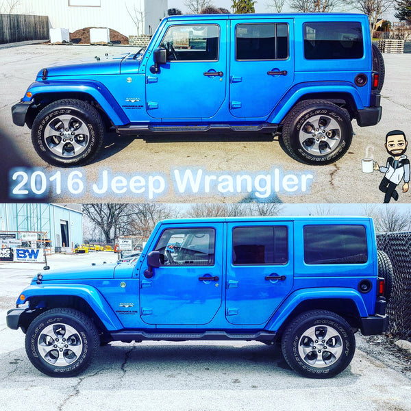 2016 Before & After Jeep Wrangler Lift Kit Install