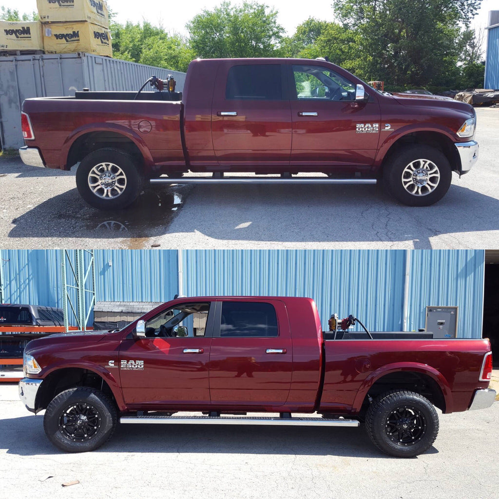 Before & After Ram 2500 BDS lift kit install near me