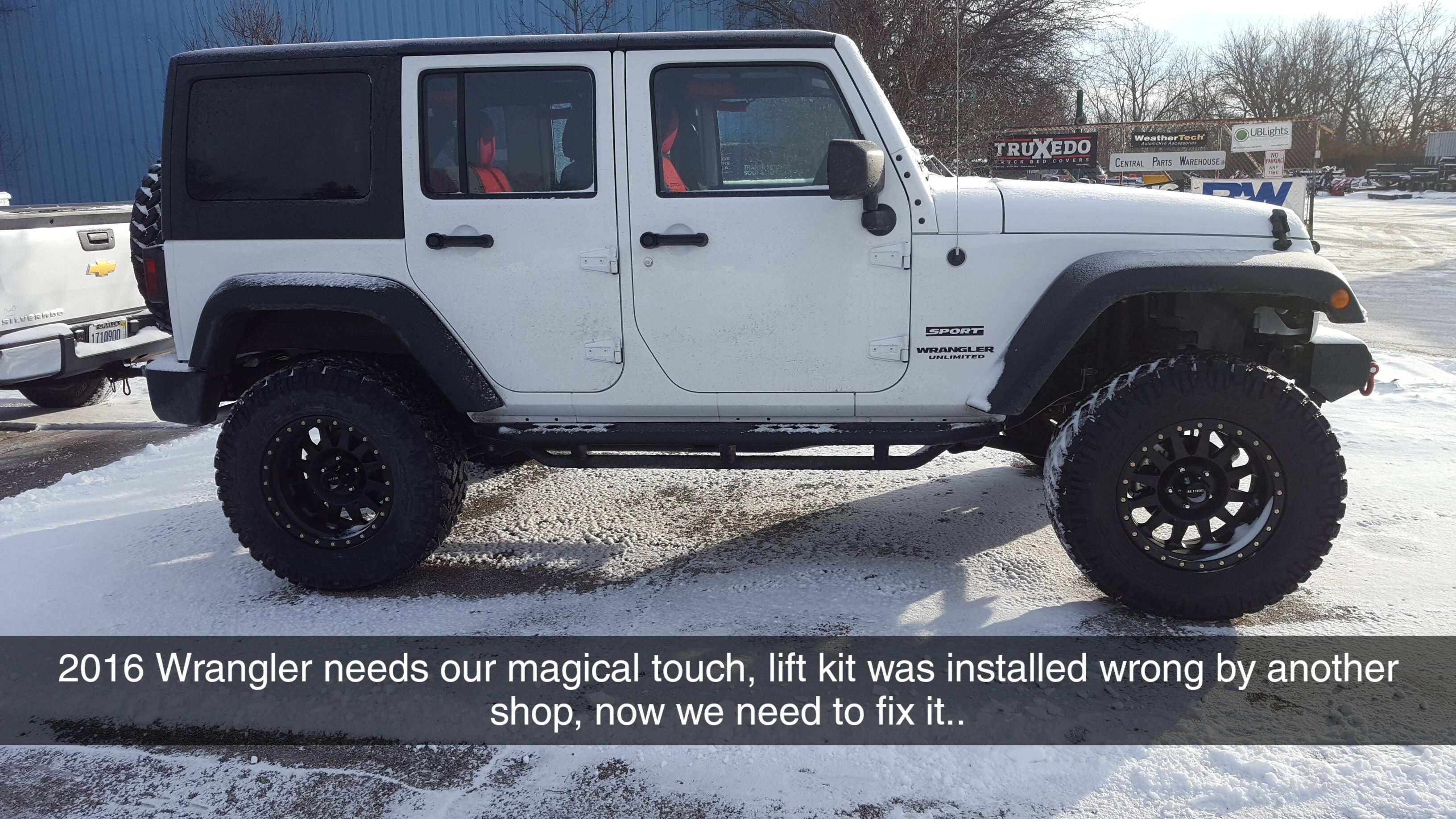 2016 Jeep Wrangler Lift Kit Installation we needed to fix from another shop