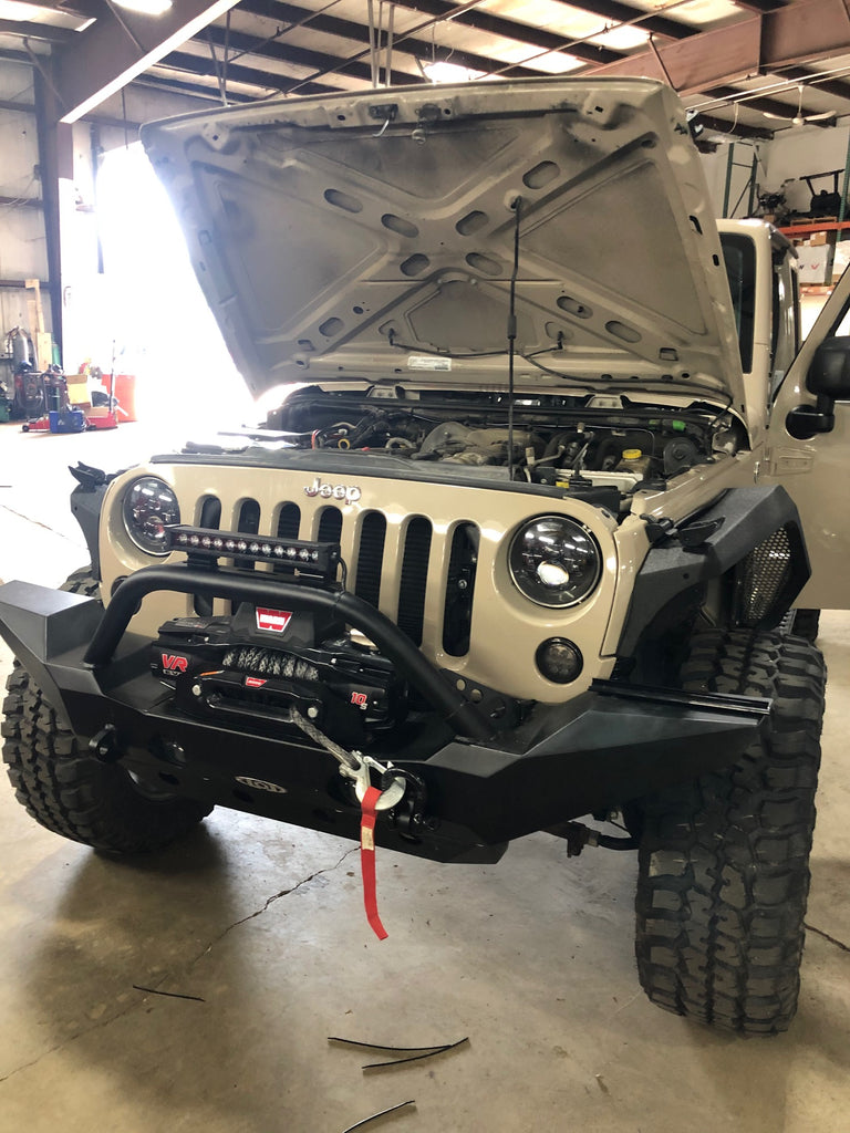 Custom Built Jeep Wrangler With Offroad Bumper