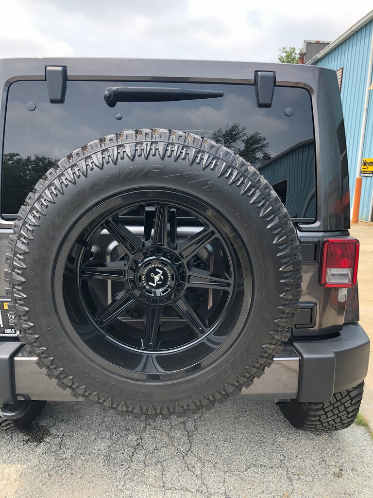 Customed Murdered Jeep Wrangler With Rims And Tires For Sale