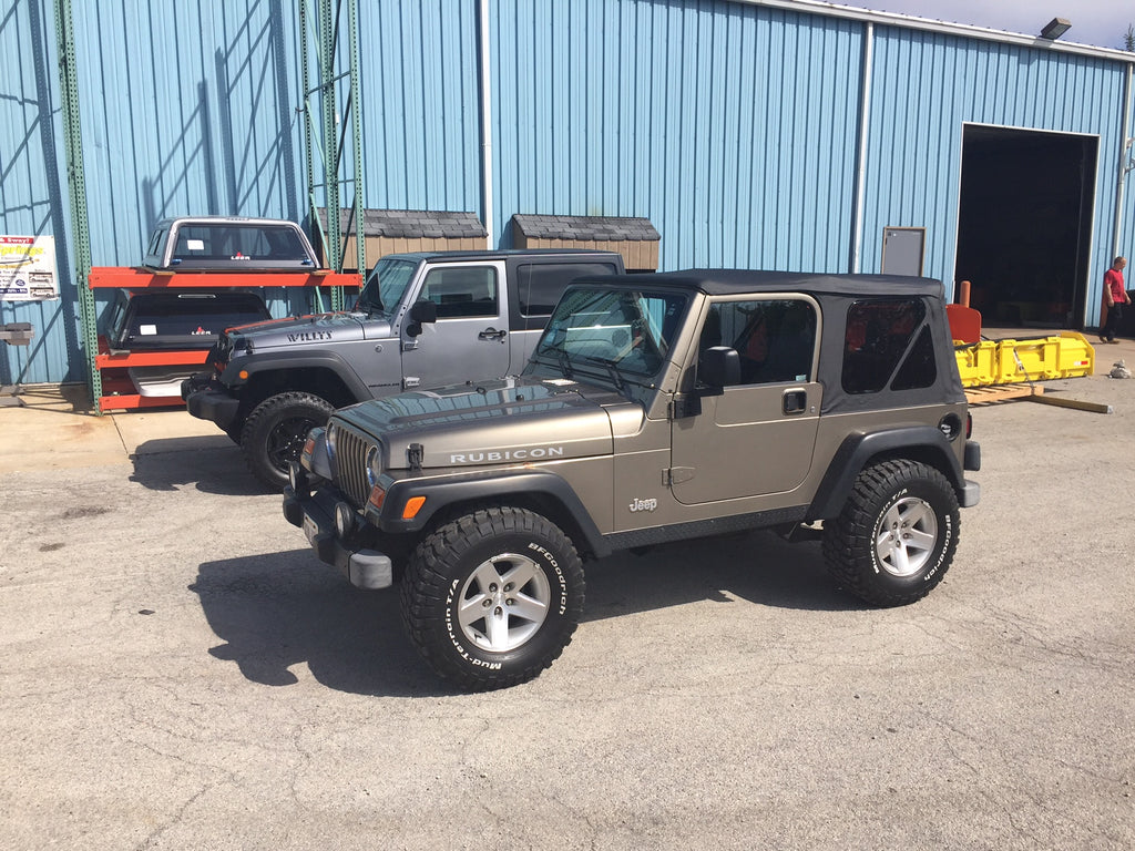 Dual Jeeps Wrangler At CPW Truck Stuff getting accessories installed near me