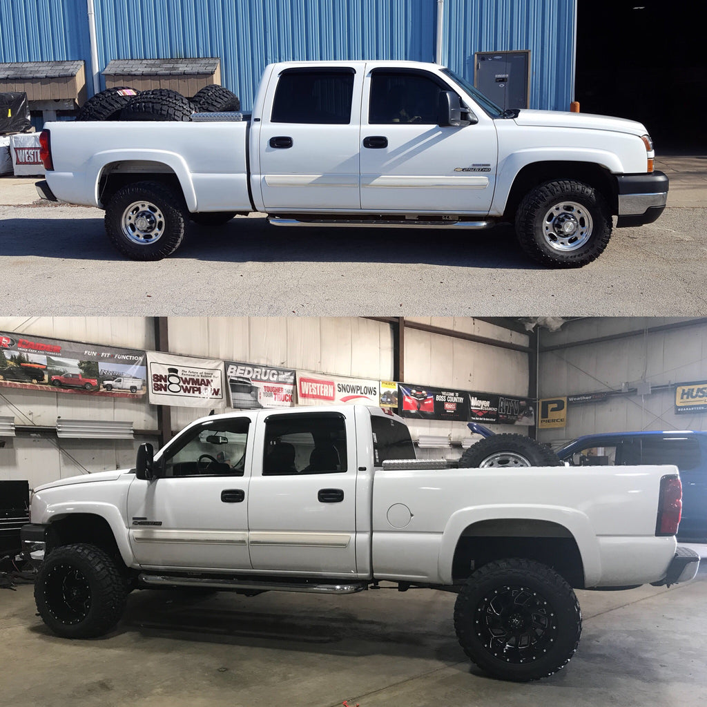 Dramatic Before and After Pictures of Lift Kit Installation