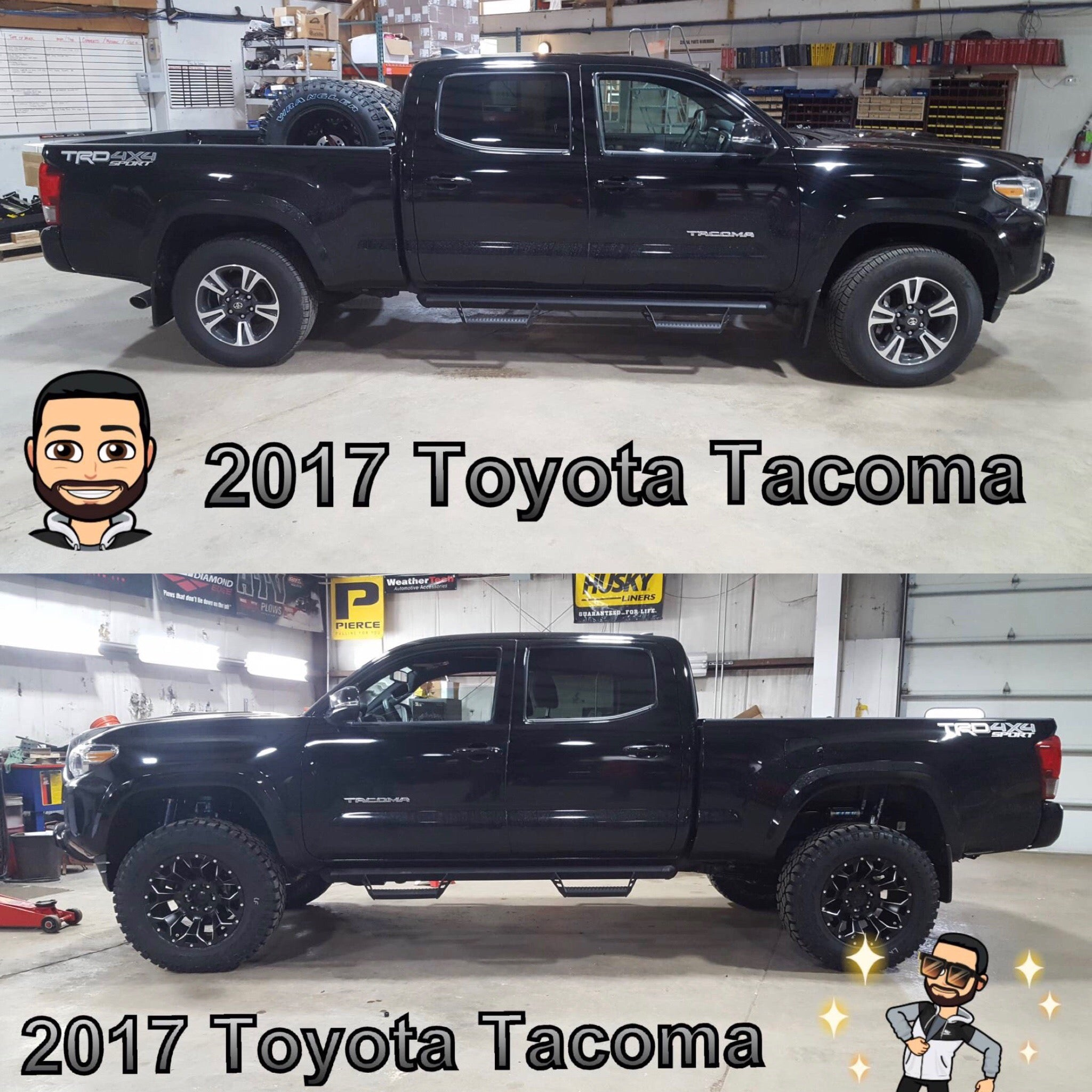 2017 Toyota Tacoma Lift Kit & Wheel/Tire Package Installed