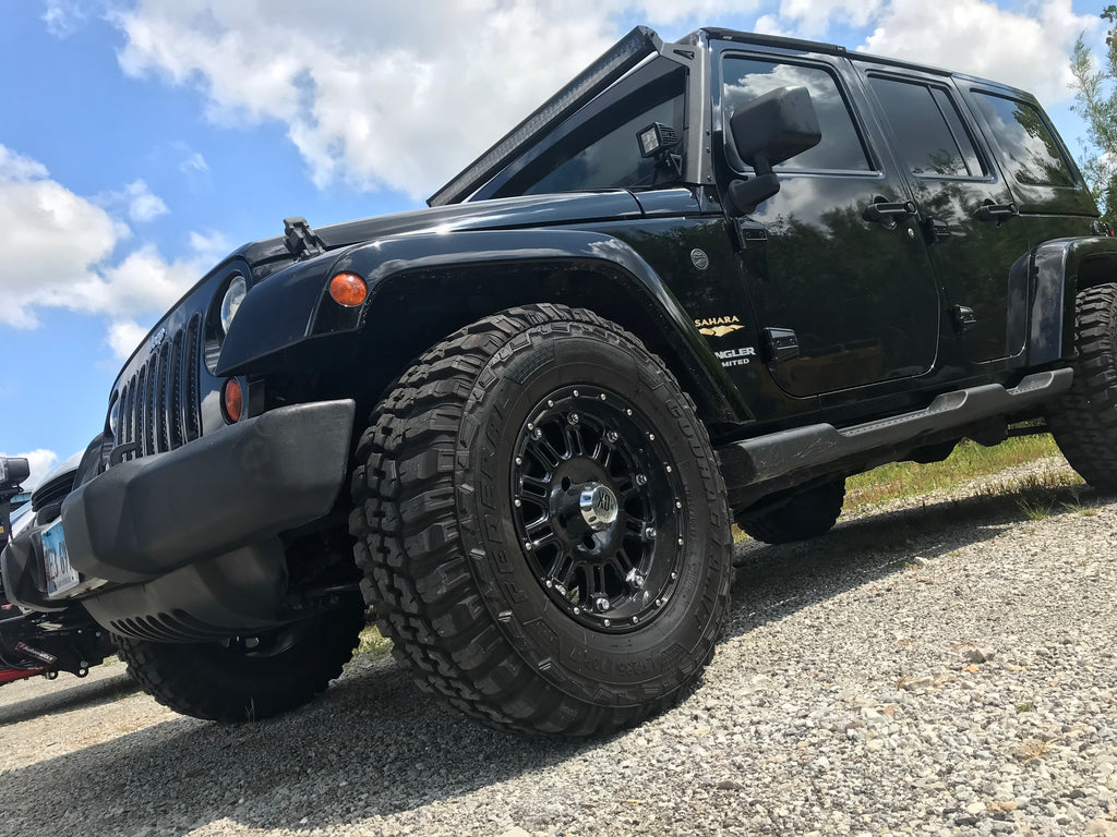 Jeep With Lightbar Wheels And Tires