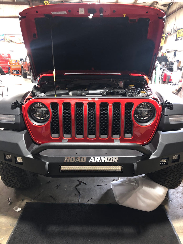 Jeep Wrangler Off-road Bumper With Lightbar Installation