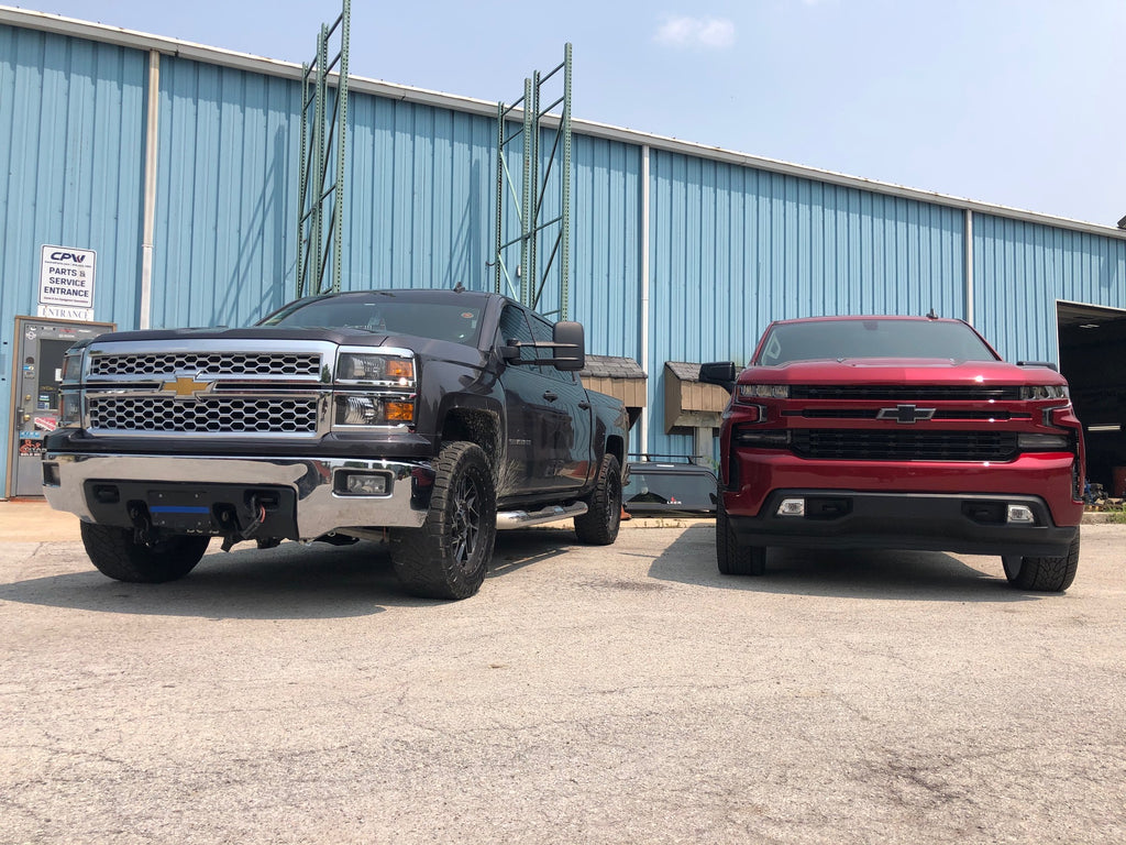 Lifted Chevys In CPW Truck Stuff Parking Lot