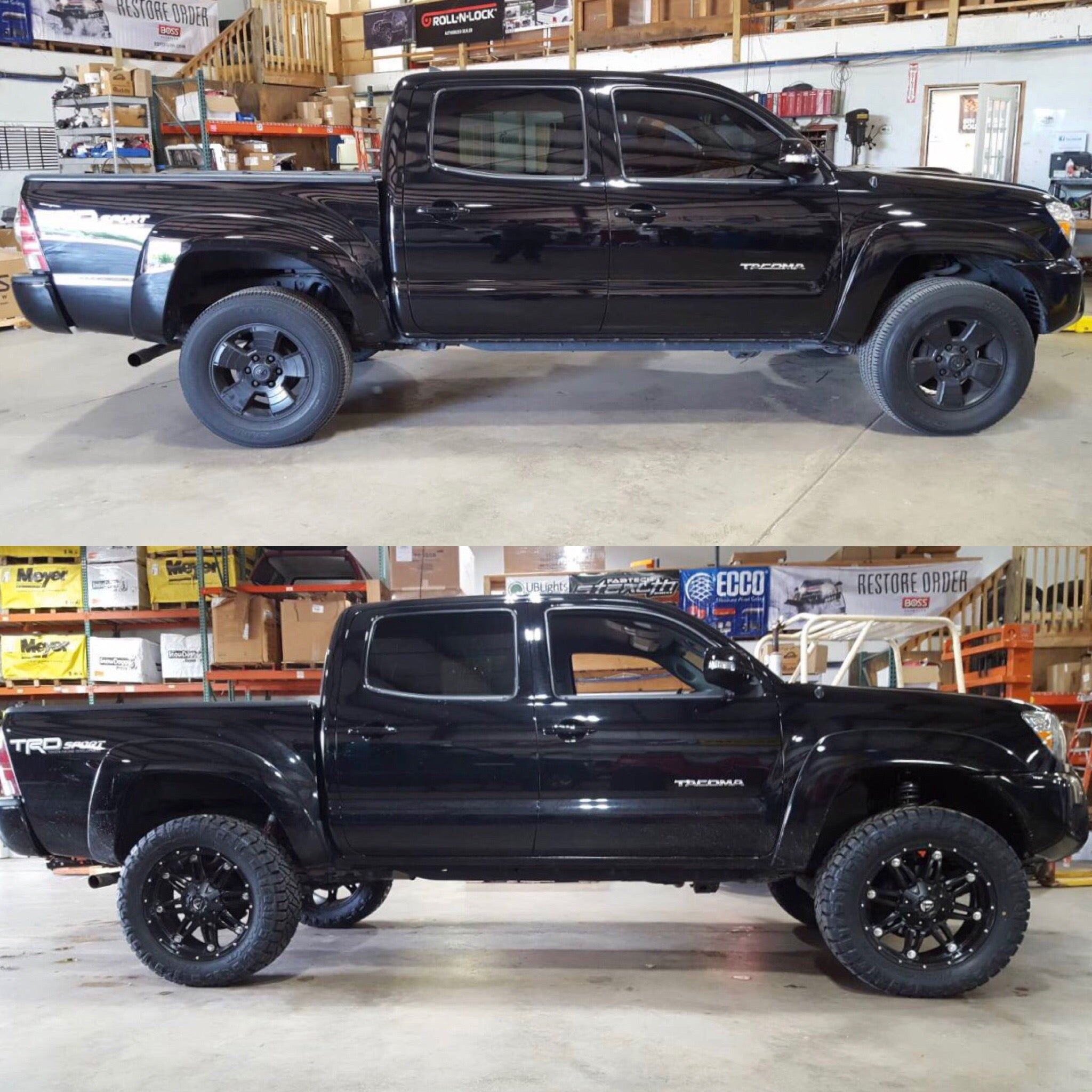 Before And After Lifted Tacoma