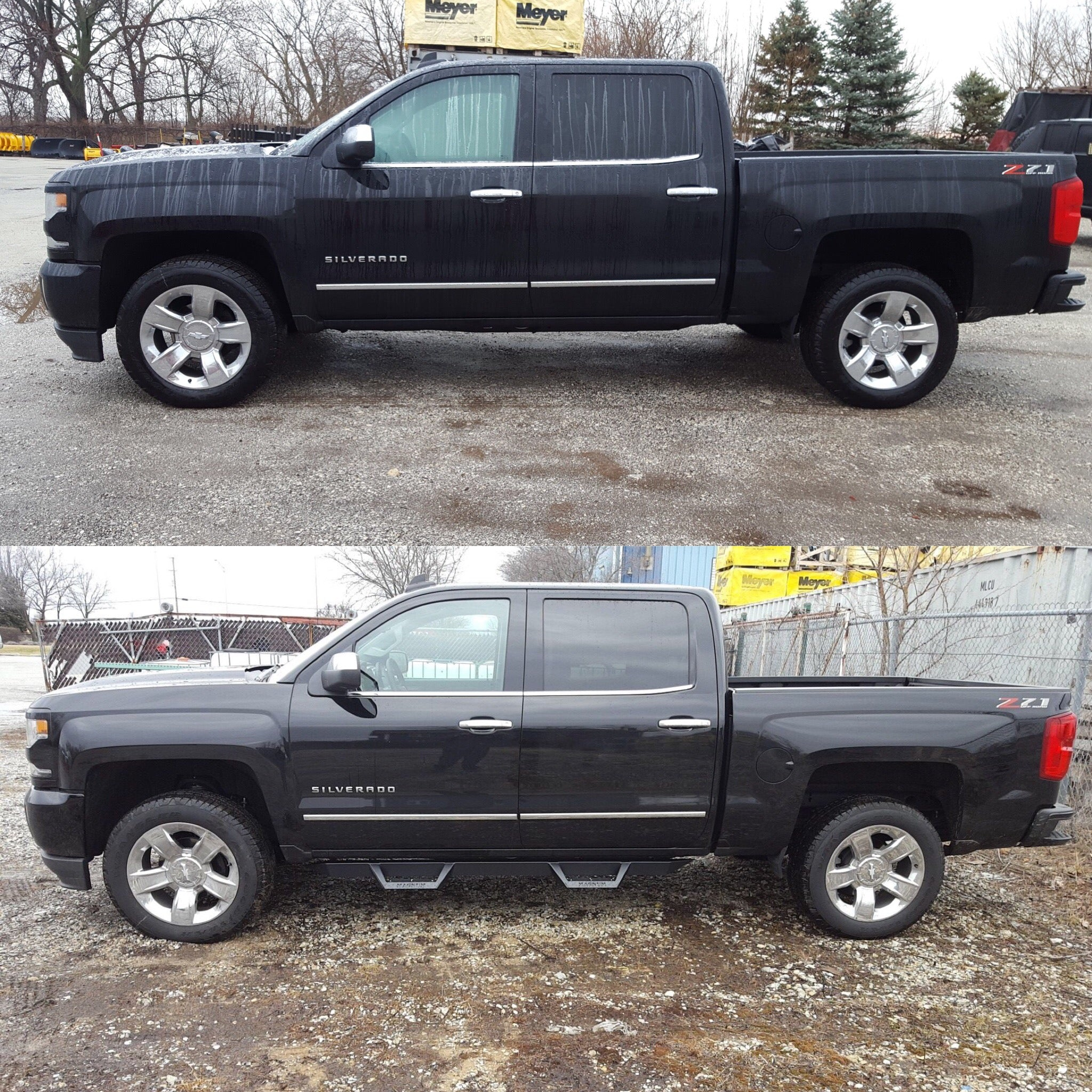 Before And After Pickup Truck Side Step Installation