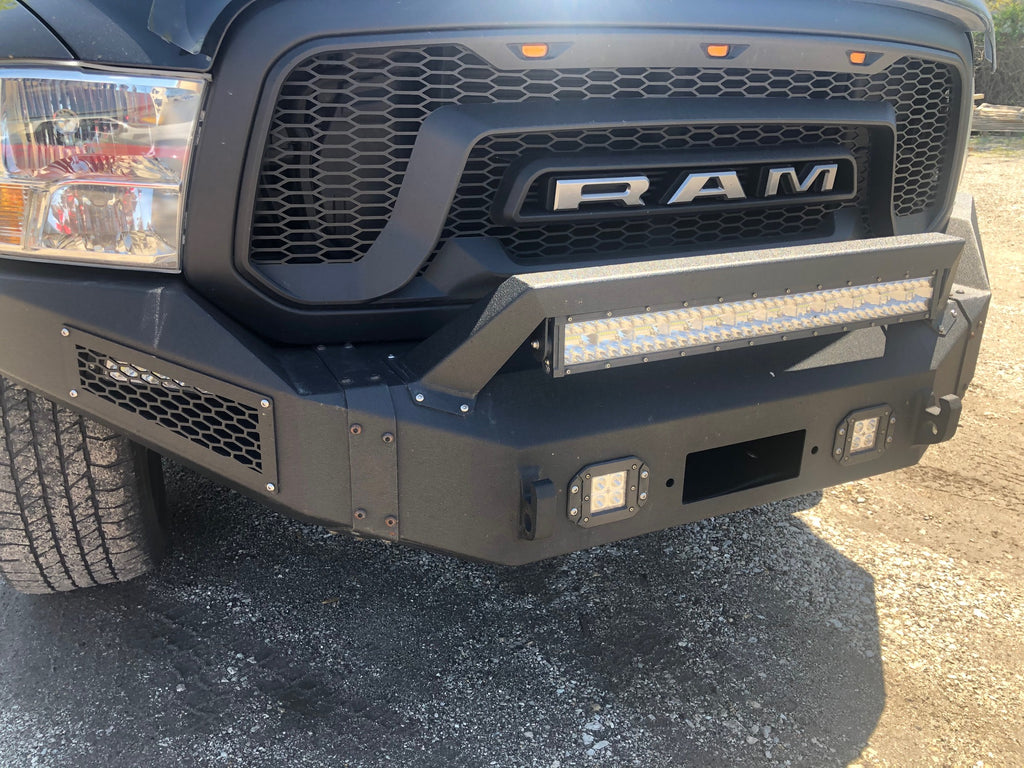 Offroad Aftermarket Bumper with LED Lightbar Installation
