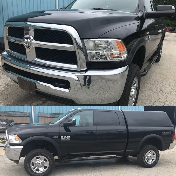 Rough Country 2.5 Inch Lift Kit on Dodge Ram without new wheels and tires