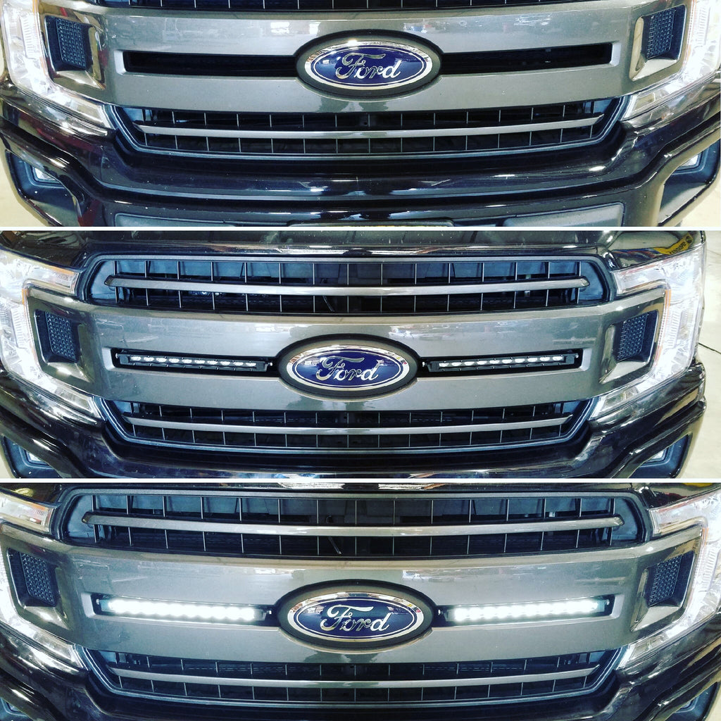 In Grille LED Light Strip Installation
