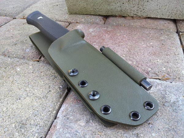 F1 Kydex Sheath with Firesteel Holder and Belt Loop
