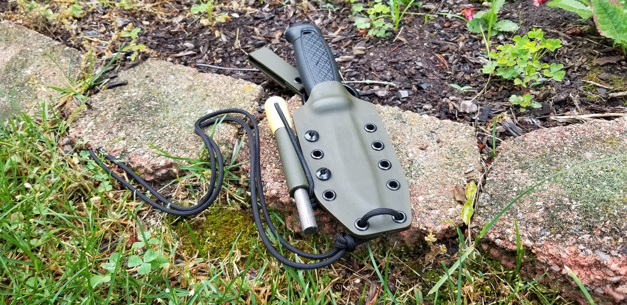 Mora Garberg custom kydex sheath with dangler and firesteel holder