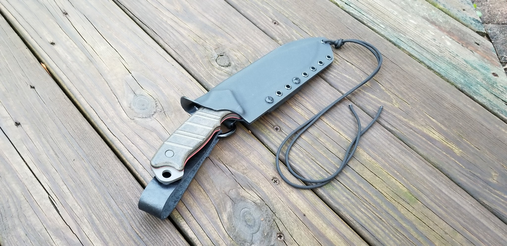 BUCK THUG custom kydex sheath with Dangler