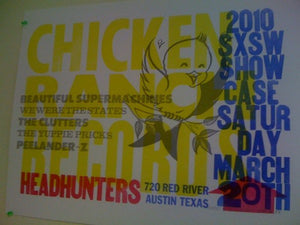 Chicken Ranch SXSW 2010 Poster