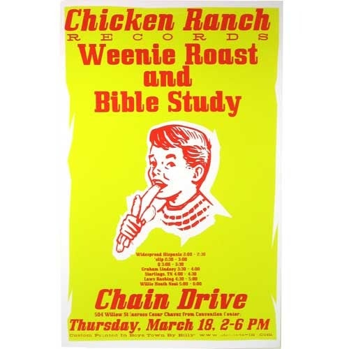 SXSW 2004 Chain Drive party poster