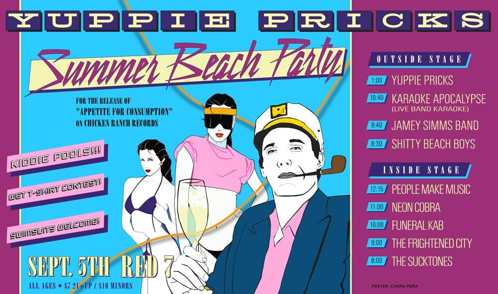 Yuppie Pricks- Beach Party 2014 Poster