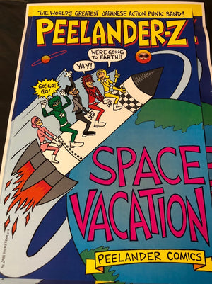 Peelander-Z Space Vacation comic poster