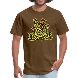Chicken Ranch T-Shirt by Peelander Yellow - brown