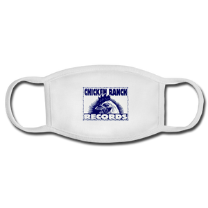 Chicken Ranch Records Face Mask - white/white