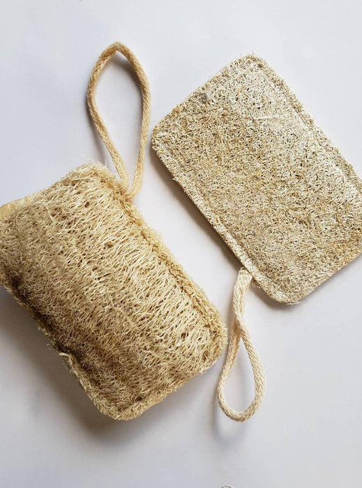 Natural Loofah Sponge (with wrist strap)