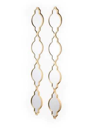 SET OF 2 GOLD GATSBY MIRRORS