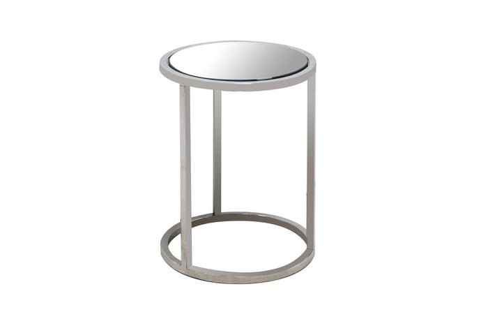 ARIA ROUND MIRRORED END TABLE