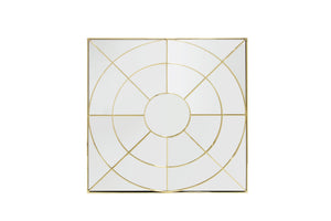 ARIA GOLD SQUARE WALL MIRROR