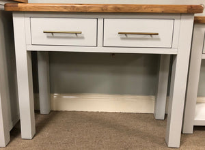 HARVEST GREY 2 DRAWER HALL TABLE